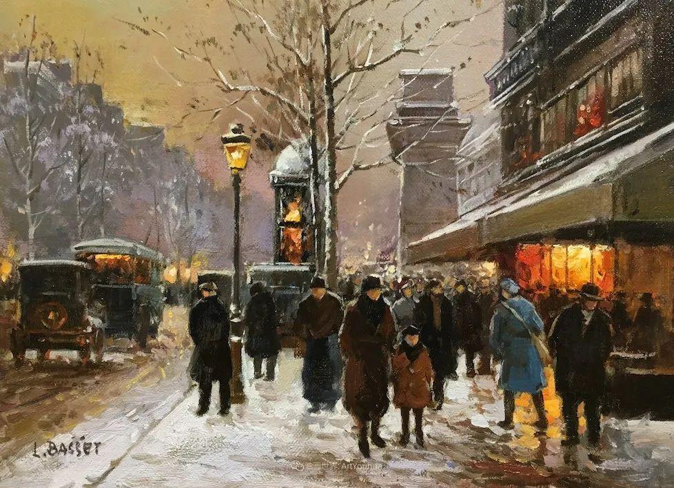 城市里的光,法国画家Louis Basset插图59