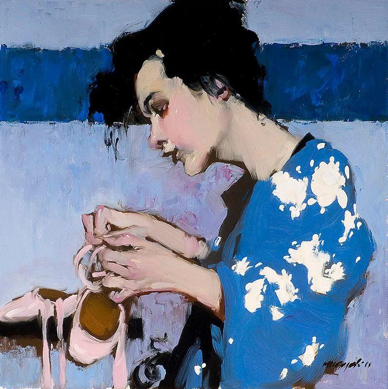 在他的油画中,有一种静谧的精致感插图1