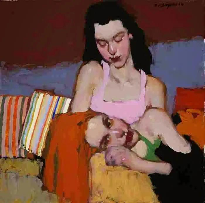 在他的油画中,有一种静谧的精致感插图69
