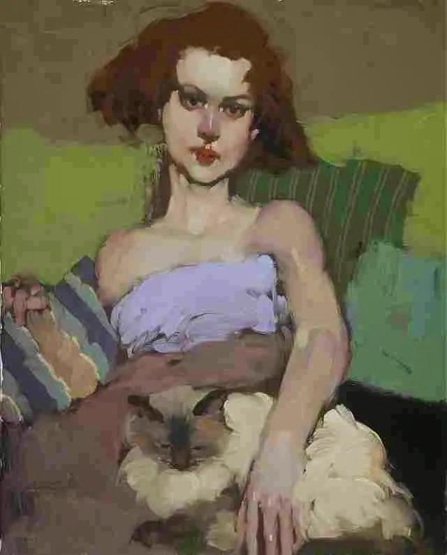 在他的油画中,有一种静谧的精致感插图79