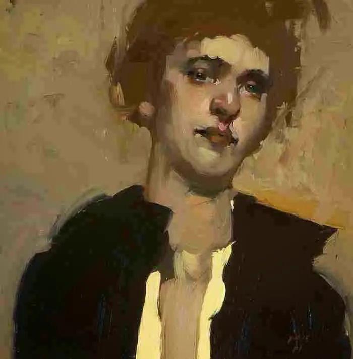 在他的油画中,有一种静谧的精致感插图83