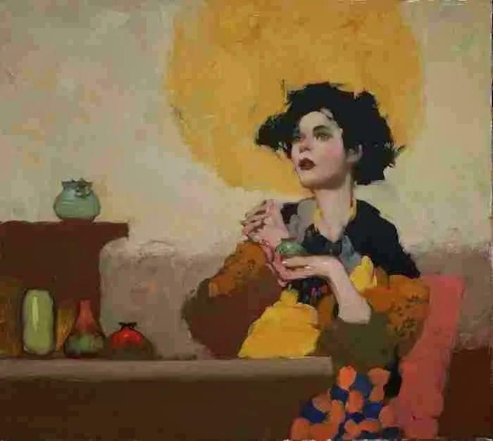 在他的油画中,有一种静谧的精致感插图85
