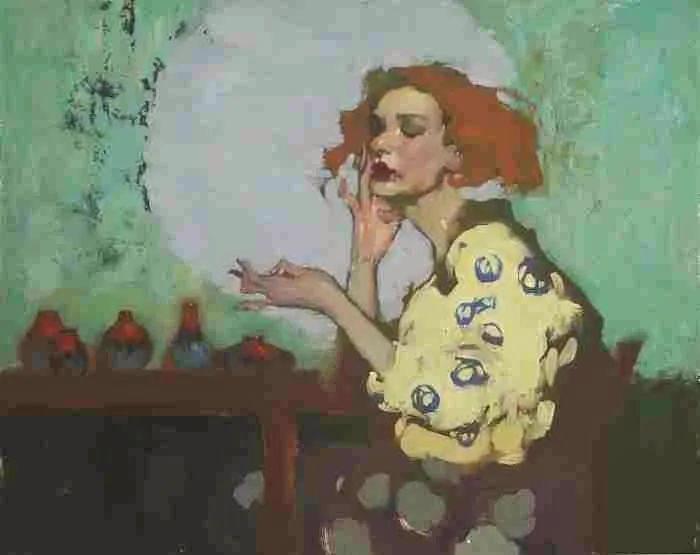 在他的油画中,有一种静谧的精致感插图87