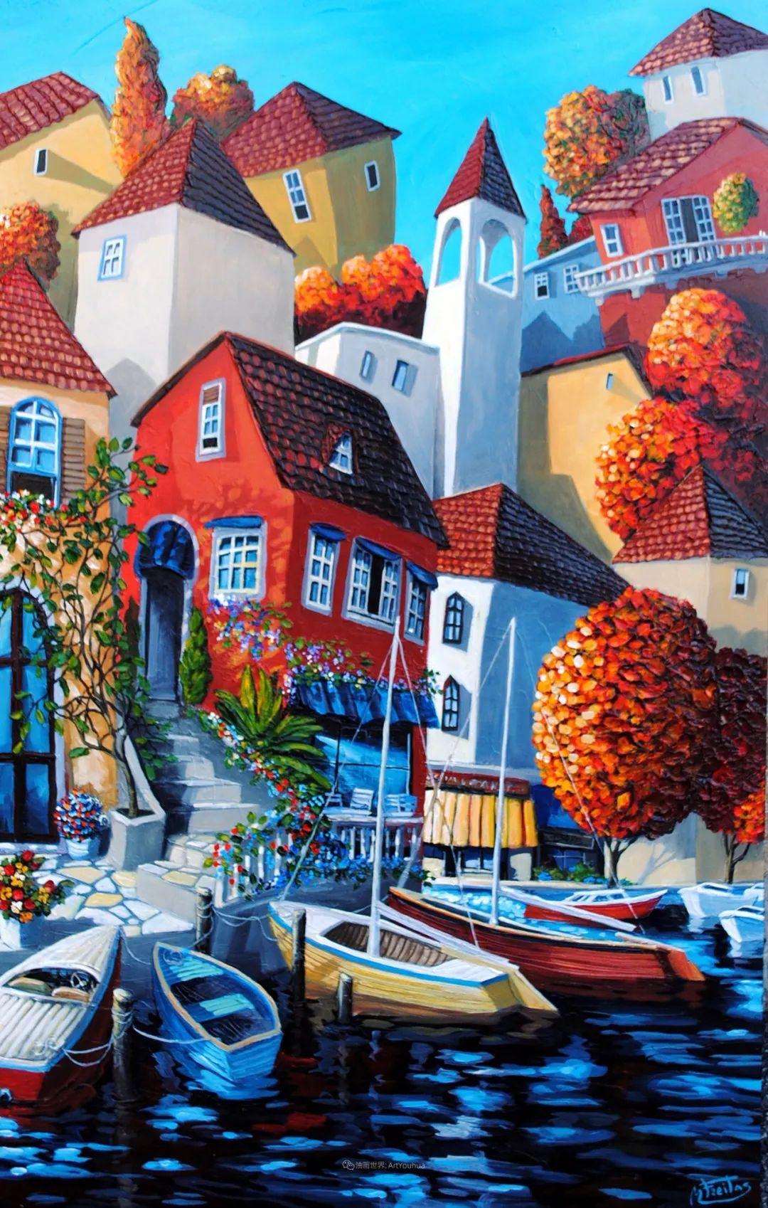 独特的风格,鲜艳的色彩!葡萄牙画家米格尔·弗雷塔斯插图5