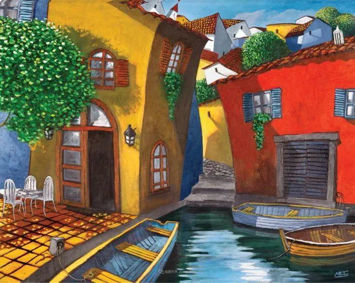 独特的风格,鲜艳的色彩!葡萄牙画家米格尔·弗雷塔斯插图17