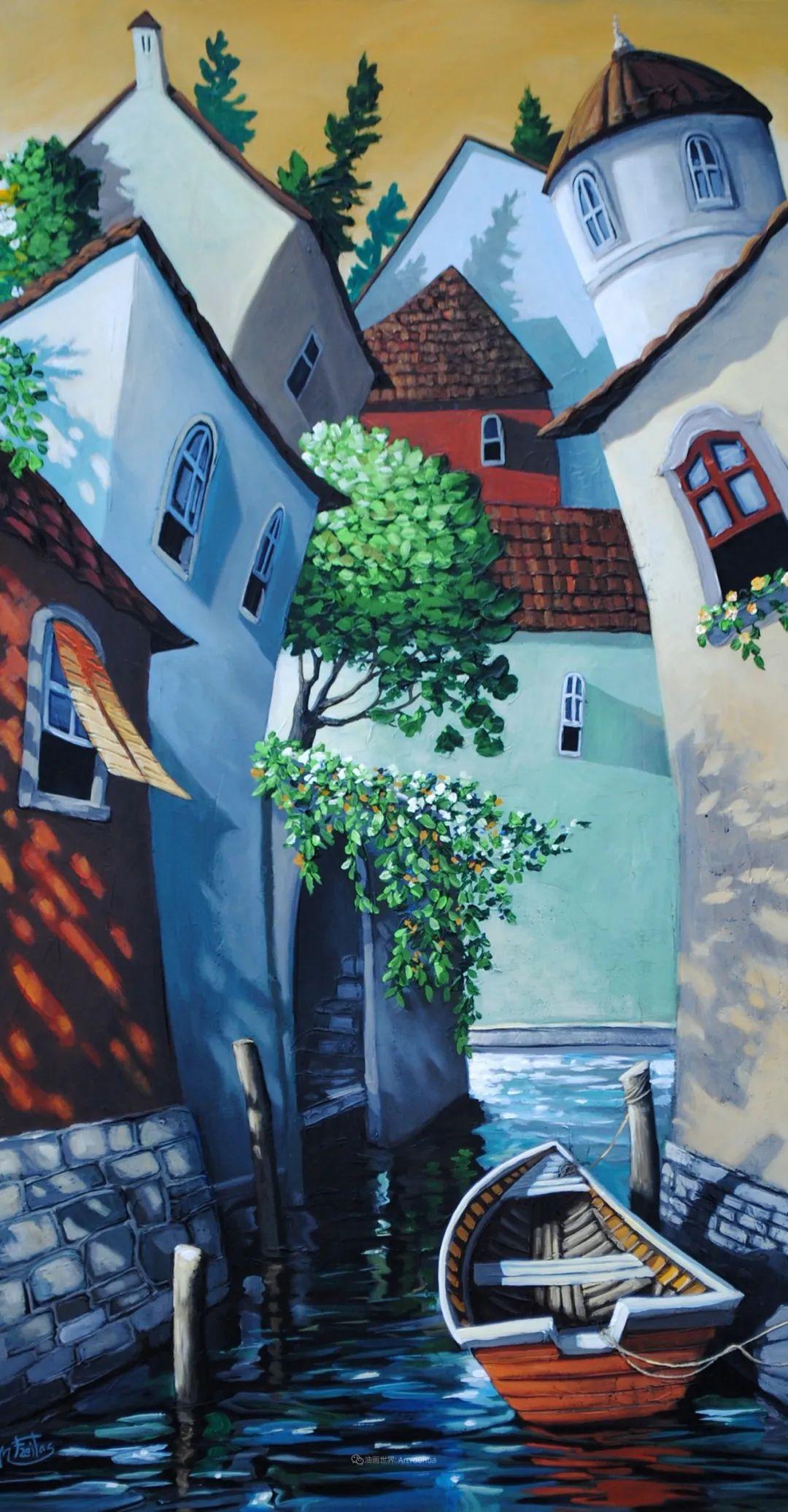 独特的风格,鲜艳的色彩!葡萄牙画家米格尔·弗雷塔斯插图23