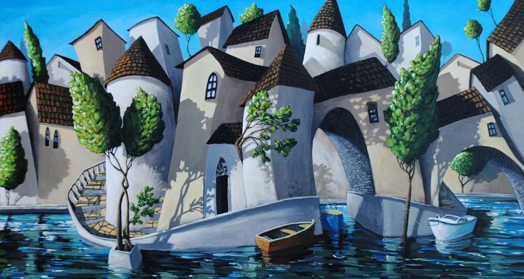 独特的风格,鲜艳的色彩!葡萄牙画家米格尔·弗雷塔斯插图35