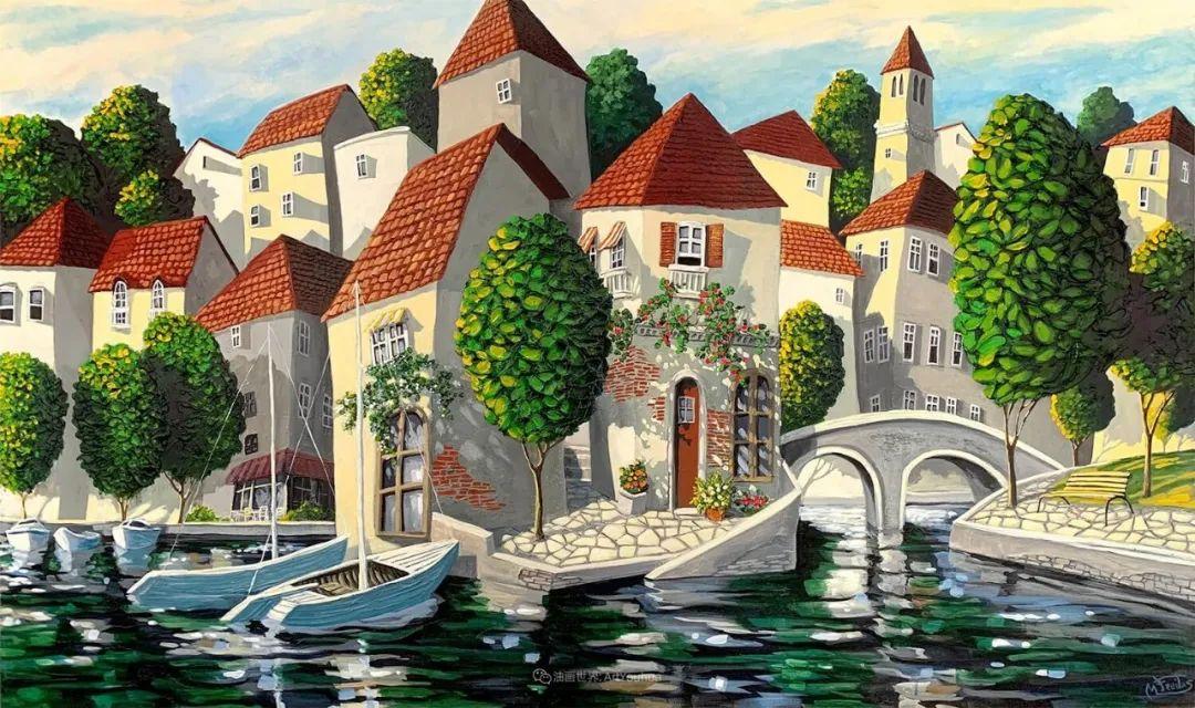 独特的风格,鲜艳的色彩!葡萄牙画家米格尔·弗雷塔斯插图41