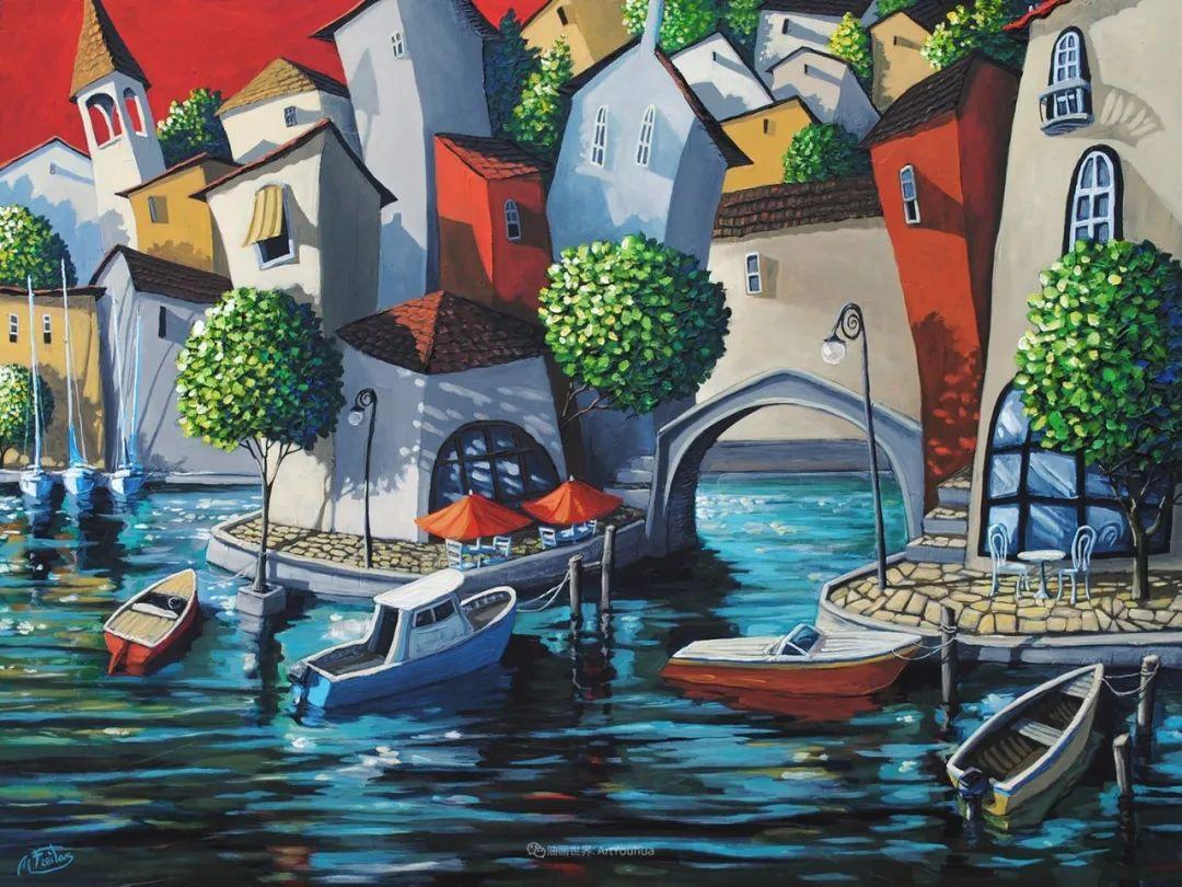 独特的风格,鲜艳的色彩!葡萄牙画家米格尔·弗雷塔斯插图43
