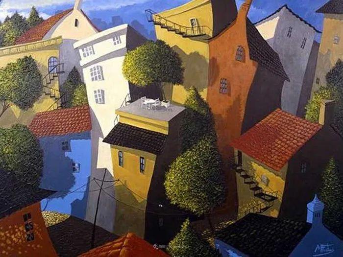 独特的风格,鲜艳的色彩!葡萄牙画家米格尔·弗雷塔斯插图47