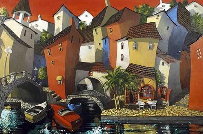 独特的风格,鲜艳的色彩!葡萄牙画家米格尔·弗雷塔斯插图49