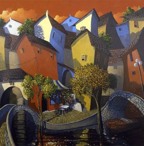 独特的风格,鲜艳的色彩!葡萄牙画家米格尔·弗雷塔斯插图59