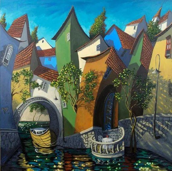 独特的风格,鲜艳的色彩!葡萄牙画家米格尔·弗雷塔斯插图63