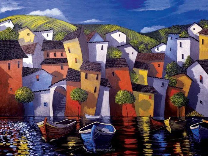 独特的风格,鲜艳的色彩!葡萄牙画家米格尔·弗雷塔斯插图65