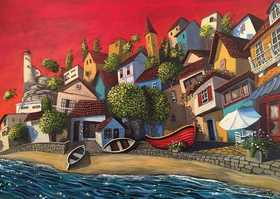 独特的风格,鲜艳的色彩!葡萄牙画家米格尔·弗雷塔斯插图71