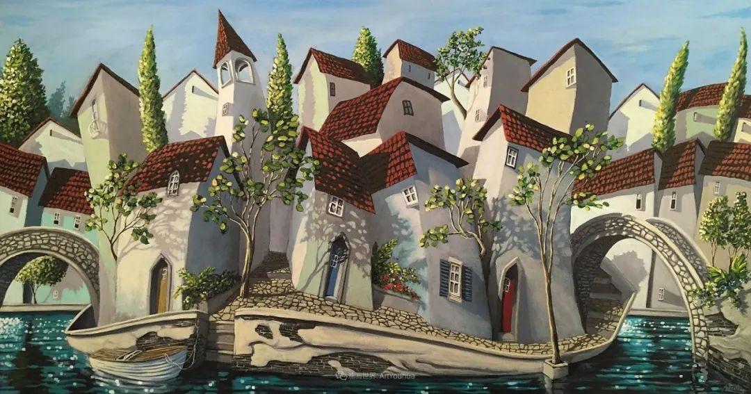 独特的风格,鲜艳的色彩!葡萄牙画家米格尔·弗雷塔斯插图77