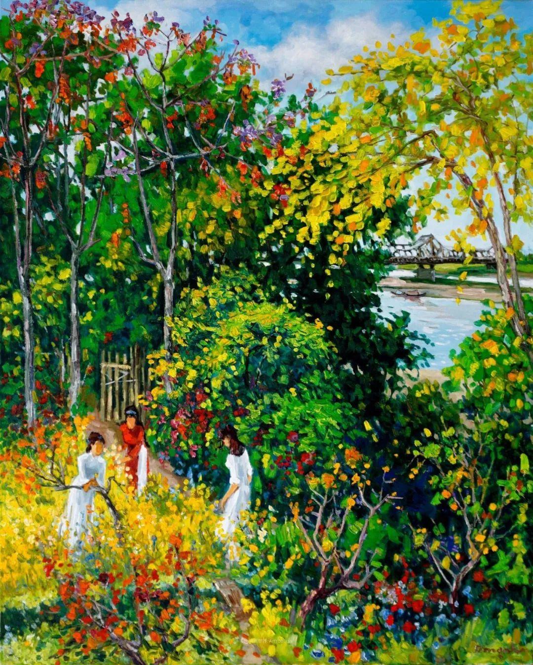 越南画家笔下的美景、美人!插图