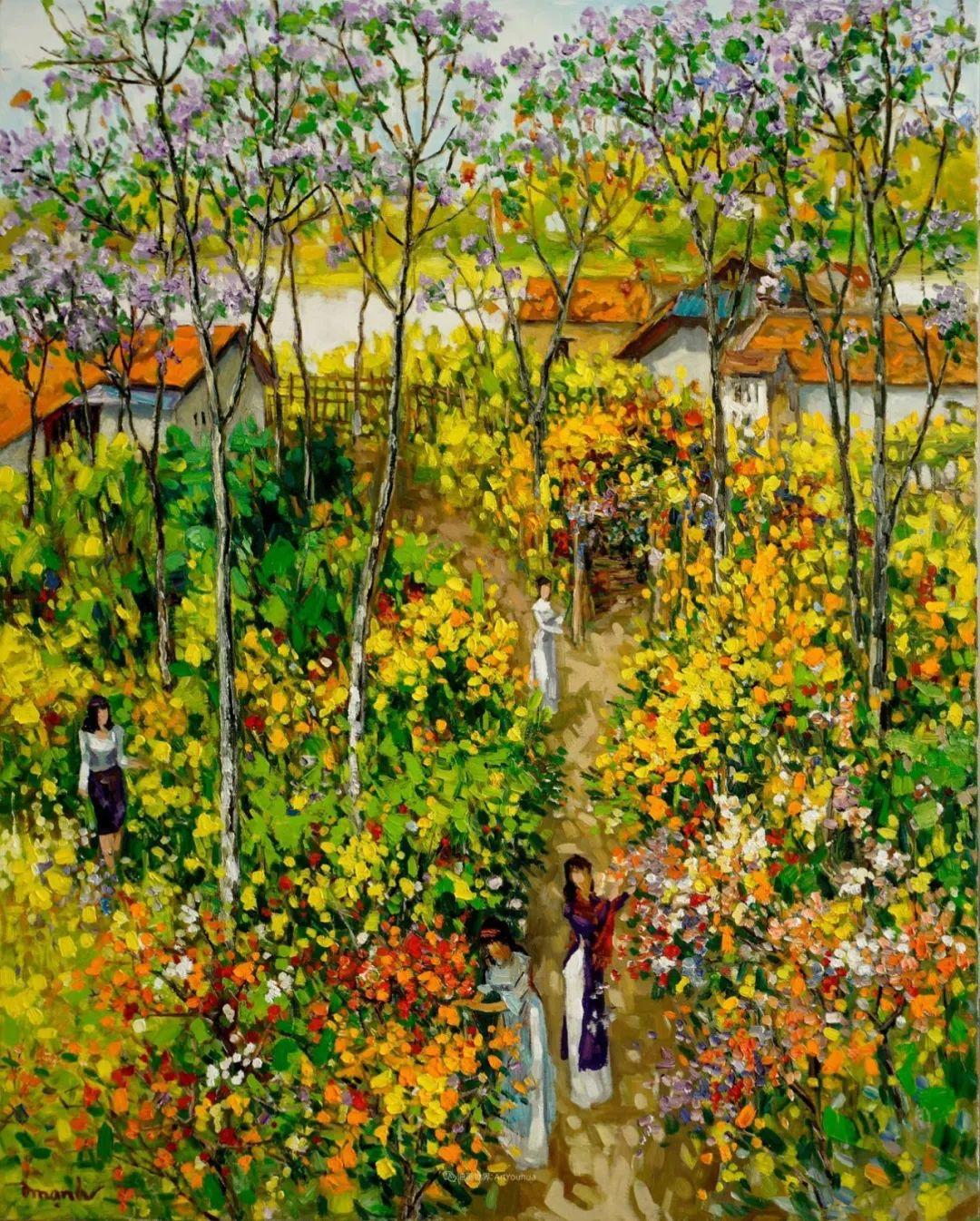 越南画家笔下的美景、美人!插图1