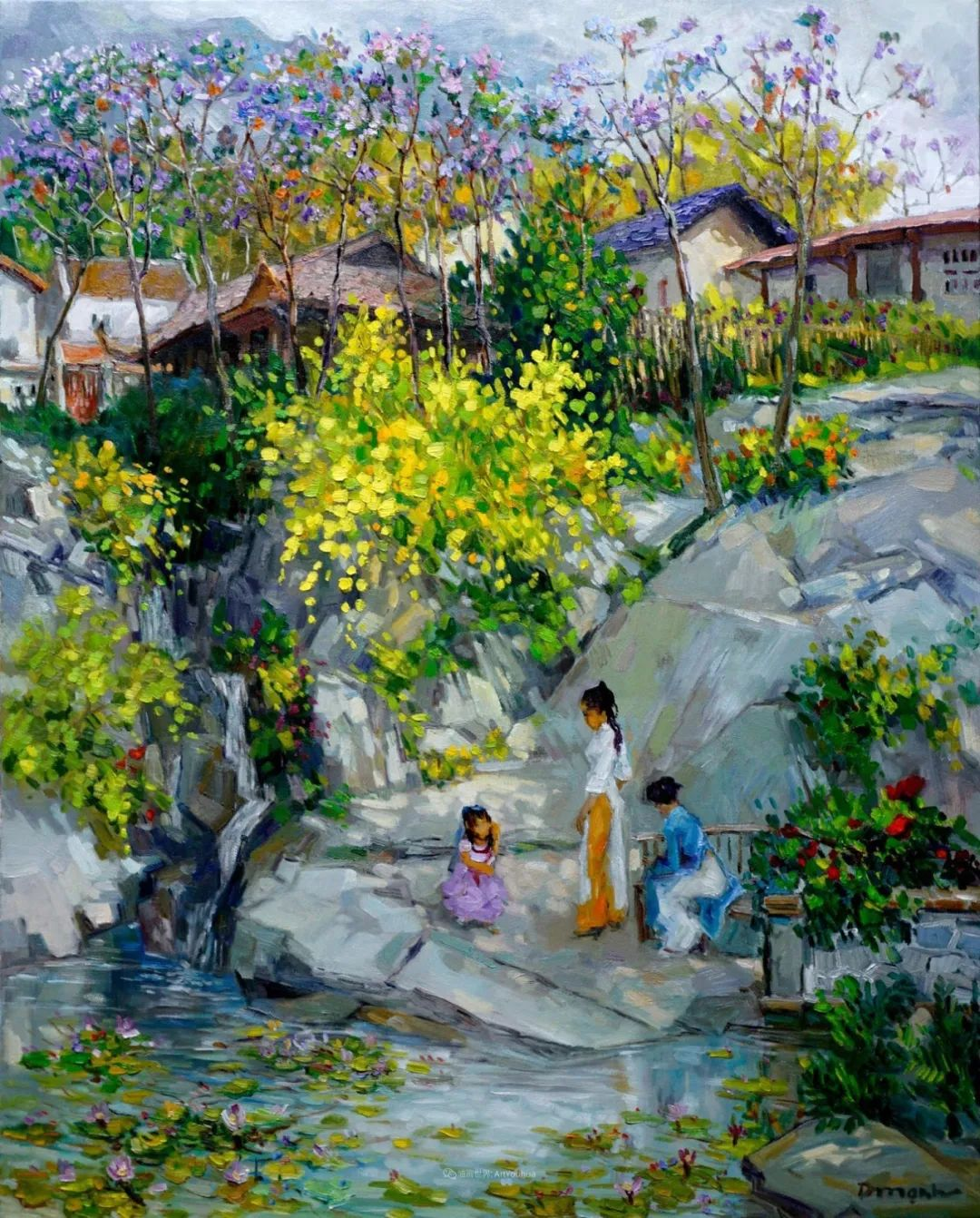 越南画家笔下的美景、美人!插图3