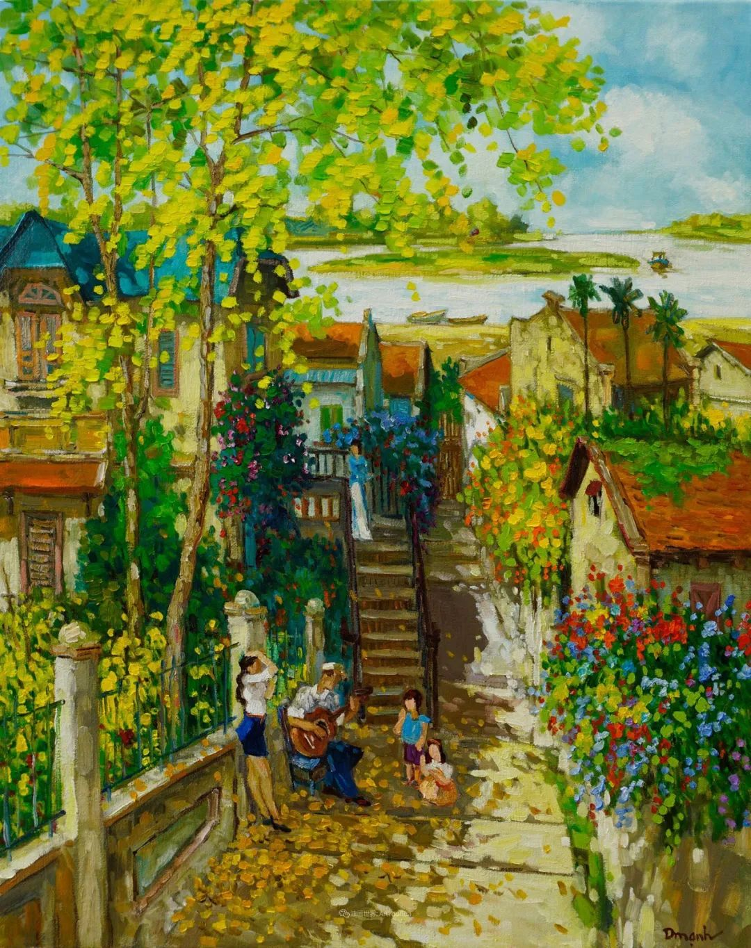 越南画家笔下的美景、美人!插图5