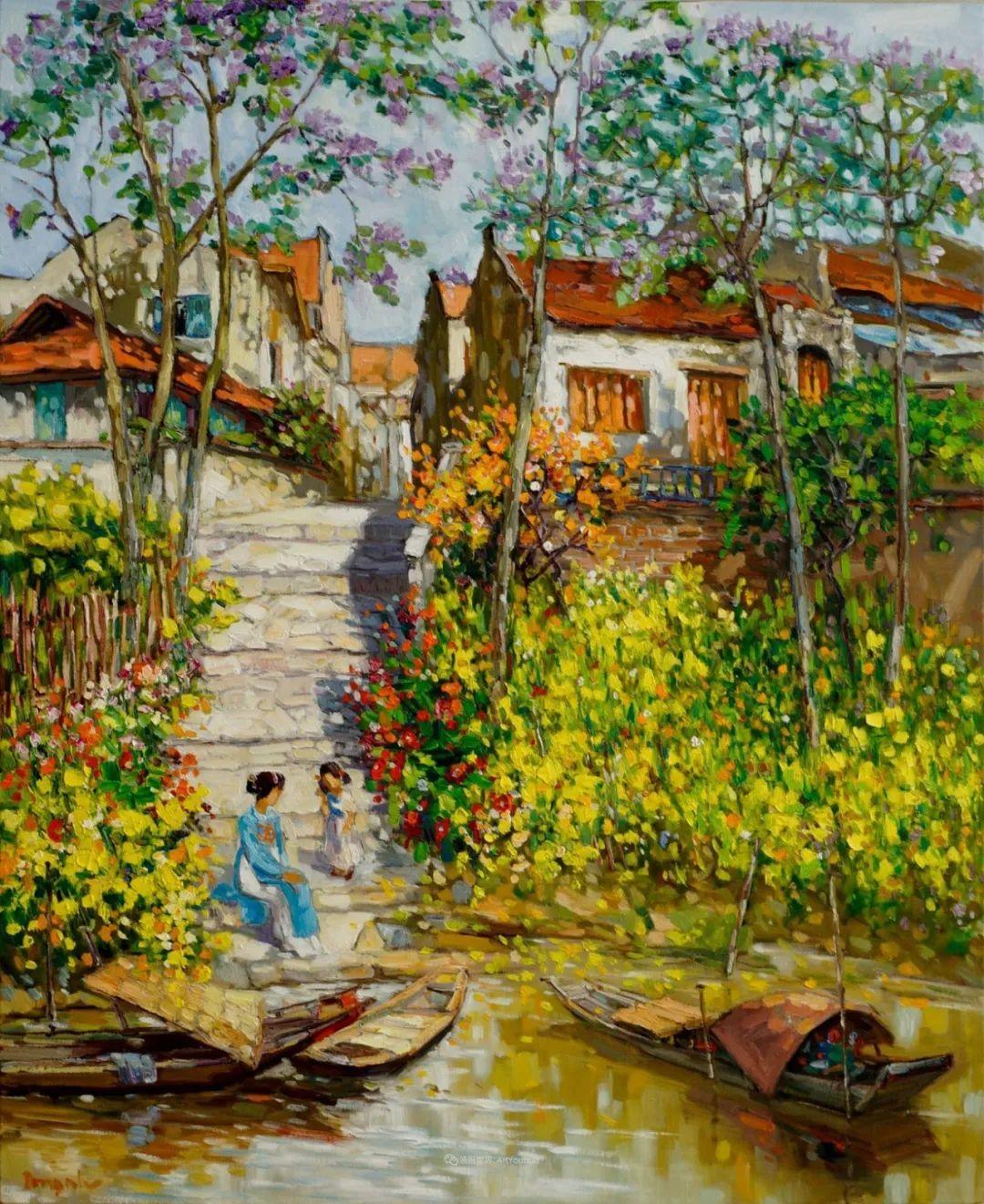 越南画家笔下的美景、美人!插图6
