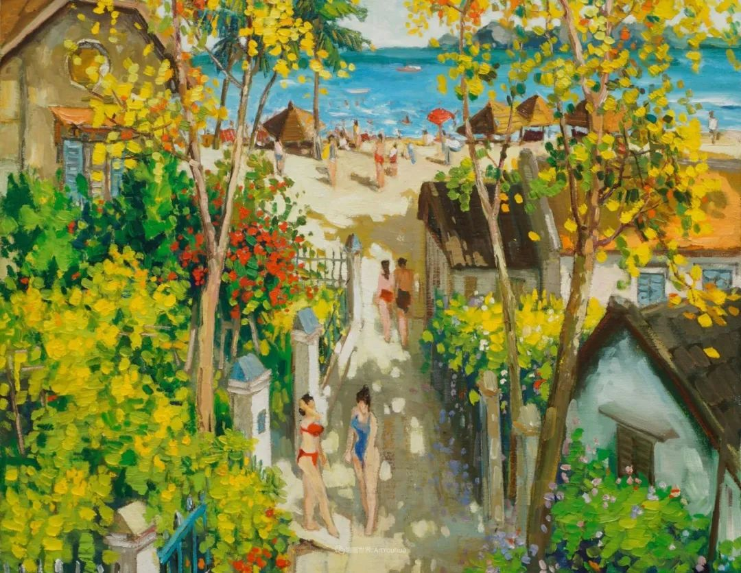 越南画家笔下的美景、美人!插图10