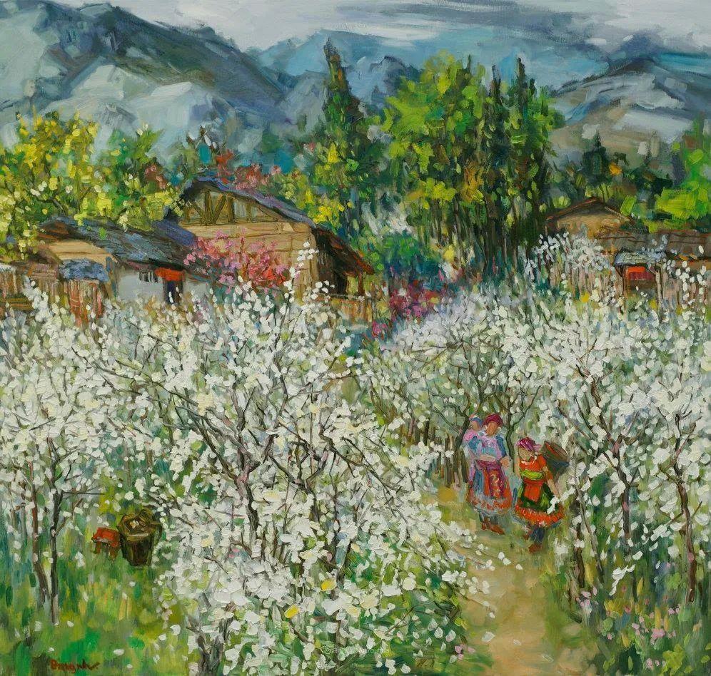 越南画家笔下的美景、美人!插图22