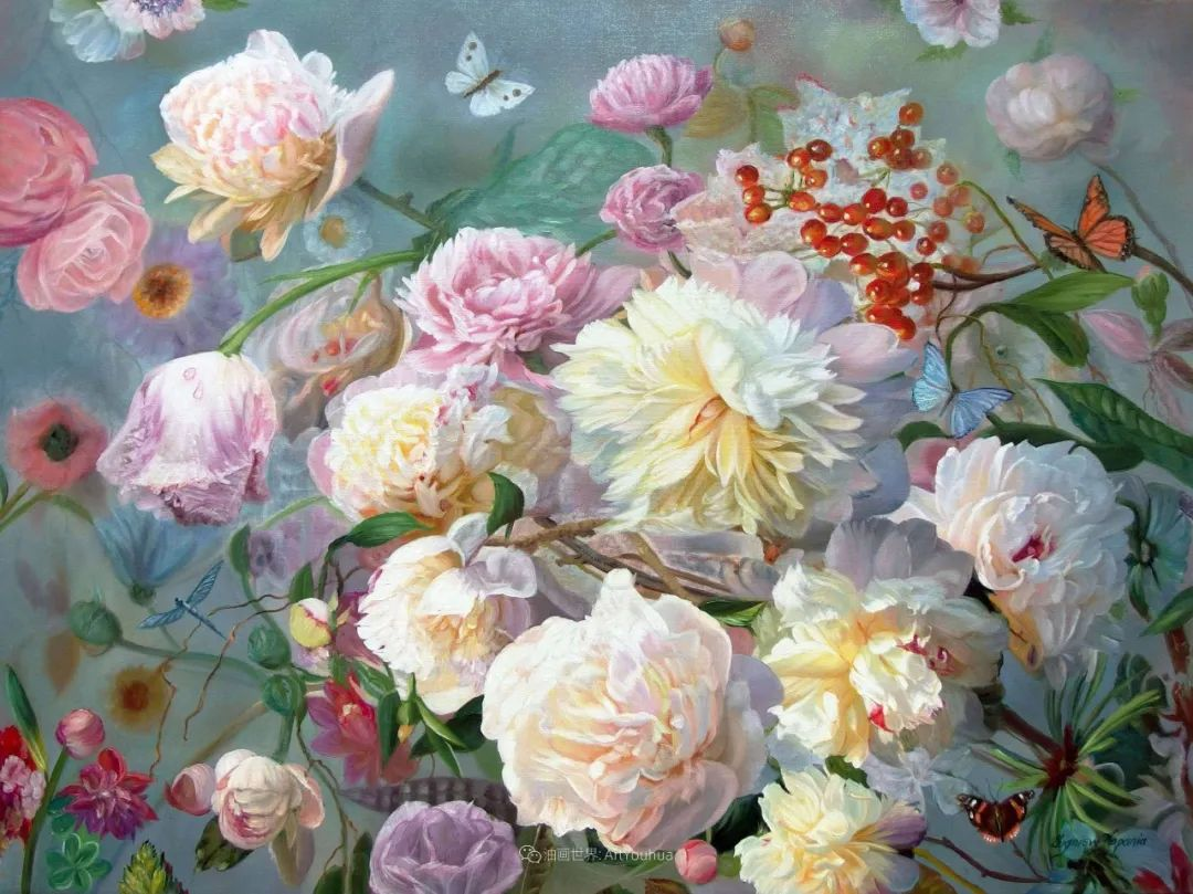 他笔下的花卉、风景,美得不要不要!插图35