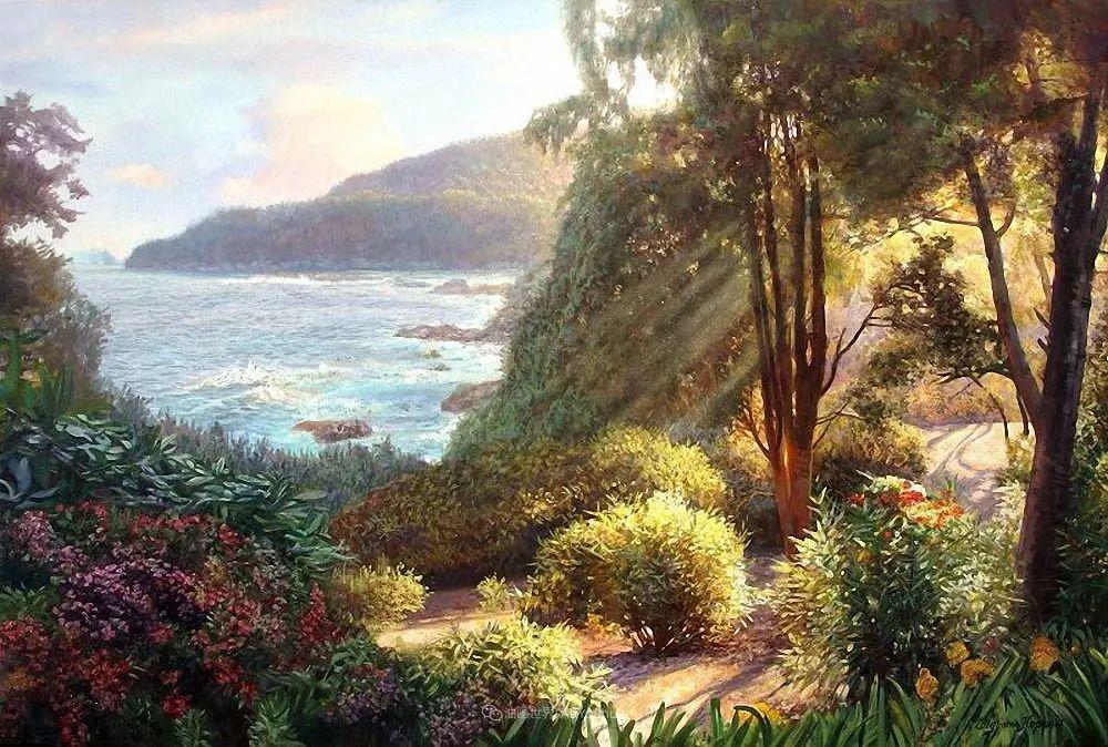 他笔下的花卉、风景,美得不要不要!插图97