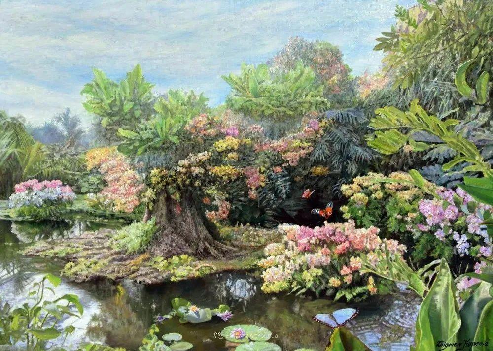 他笔下的花卉、风景,美得不要不要!插图117