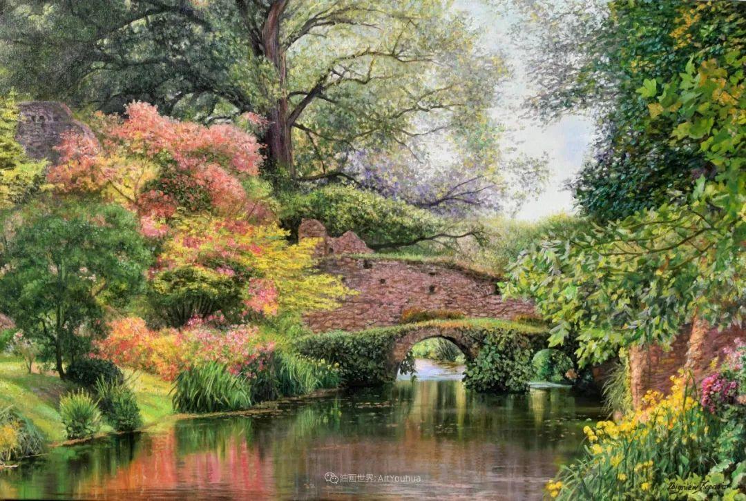 他笔下的花卉、风景,美得不要不要!插图123