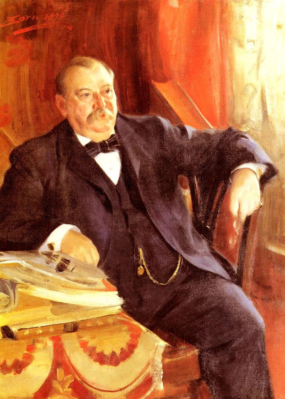 他为多位总统/国王画过肖像,瑞典画家安德斯·佐恩插图3