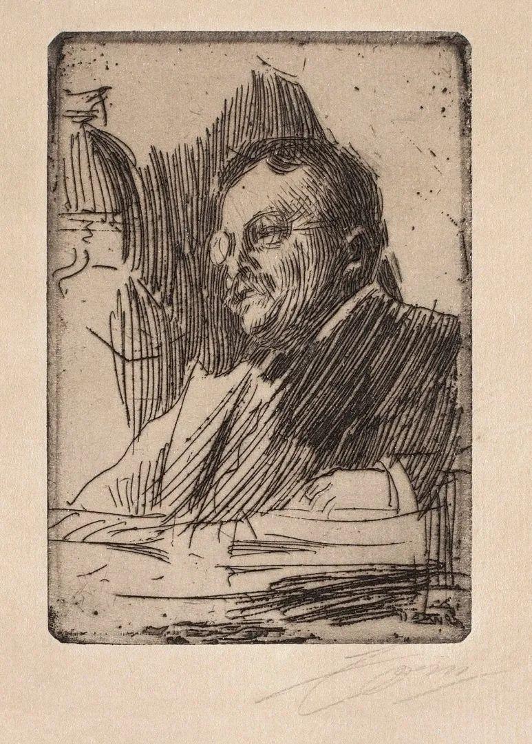 他为多位总统/国王画过肖像,瑞典画家安德斯·佐恩插图5