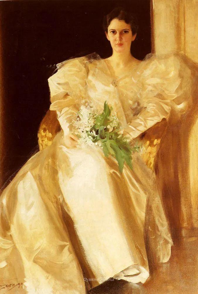 他为多位总统/国王画过肖像,瑞典画家安德斯·佐恩插图7