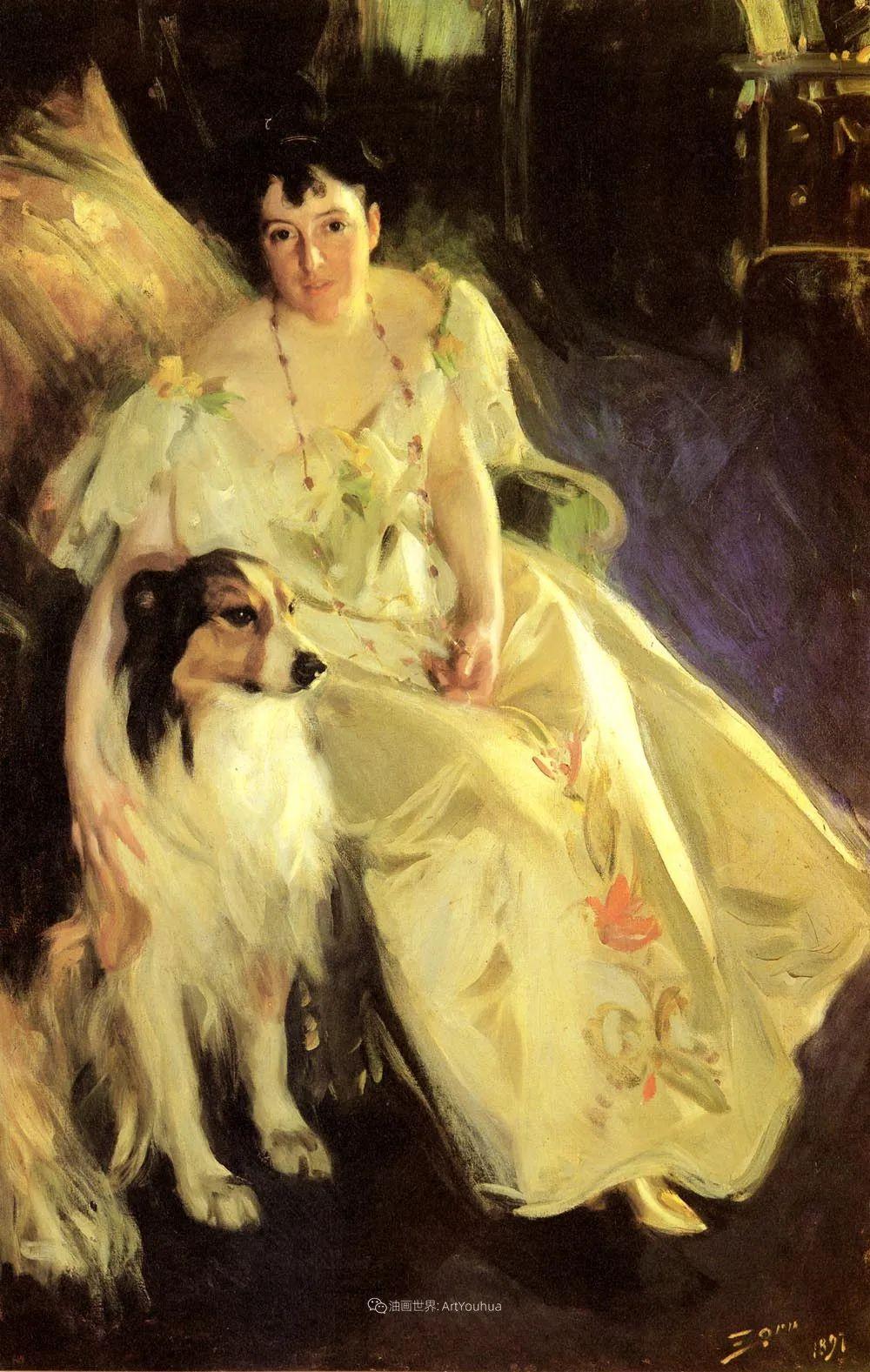 他为多位总统/国王画过肖像,瑞典画家安德斯·佐恩插图10