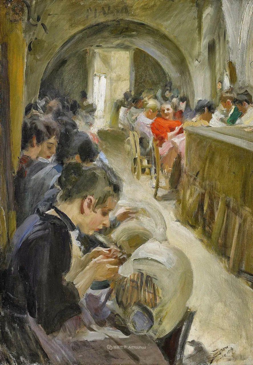他为多位总统/国王画过肖像,瑞典画家安德斯·佐恩插图14