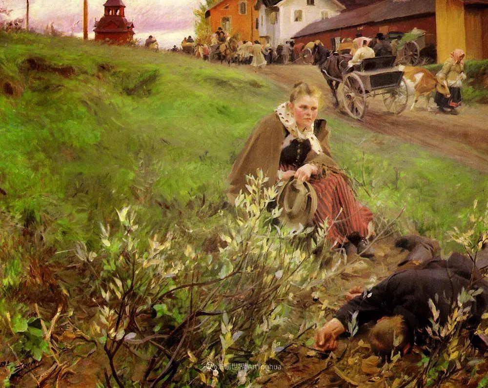他为多位总统/国王画过肖像,瑞典画家安德斯·佐恩插图17