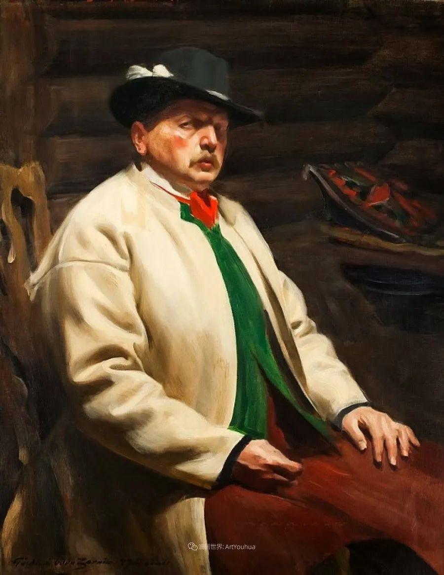 他为多位总统/国王画过肖像,瑞典画家安德斯·佐恩插图19