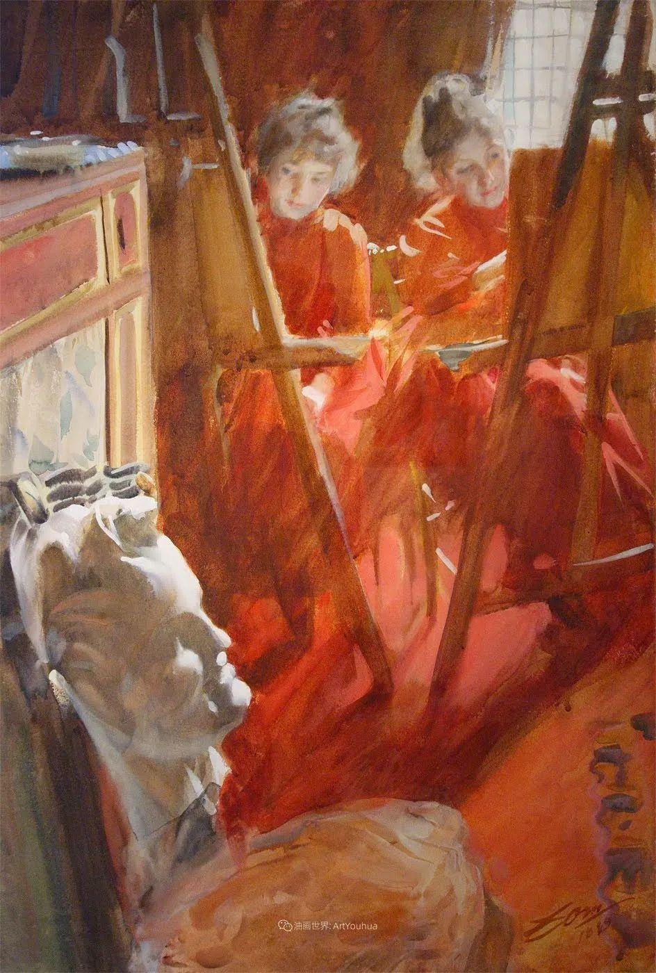 他为多位总统/国王画过肖像,瑞典画家安德斯·佐恩插图20