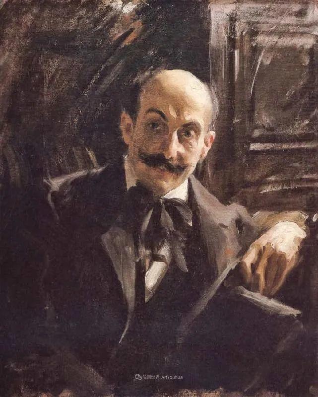 他为多位总统/国王画过肖像,瑞典画家安德斯·佐恩插图22