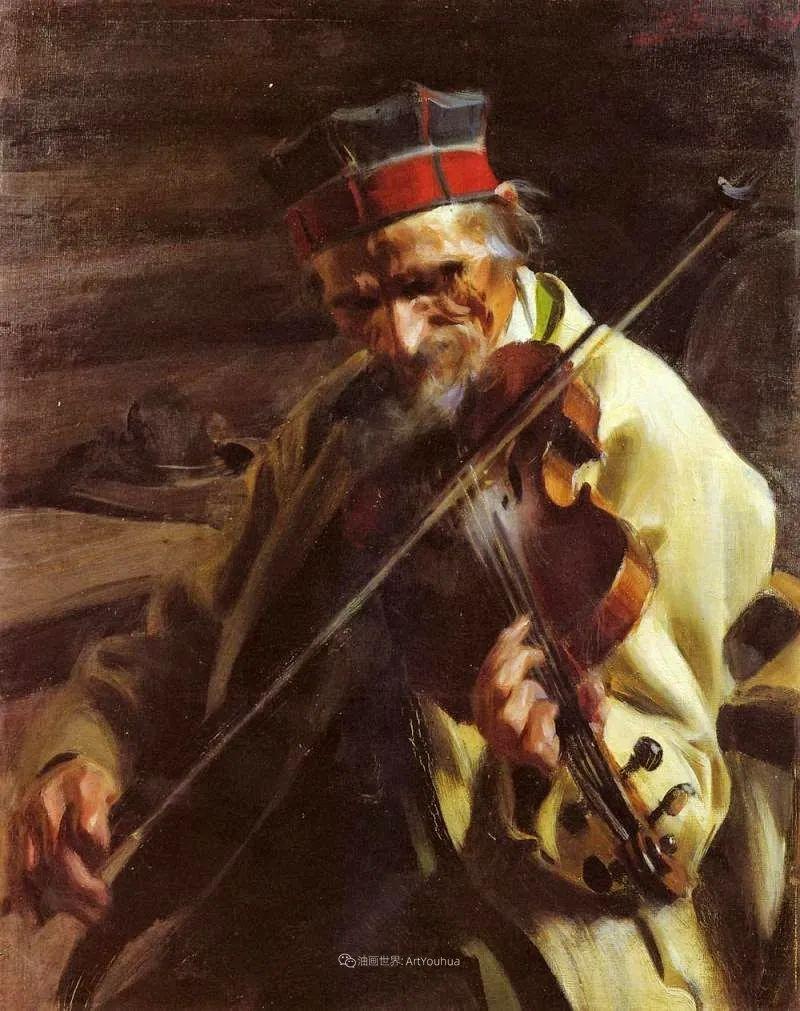 他为多位总统/国王画过肖像,瑞典画家安德斯·佐恩插图24