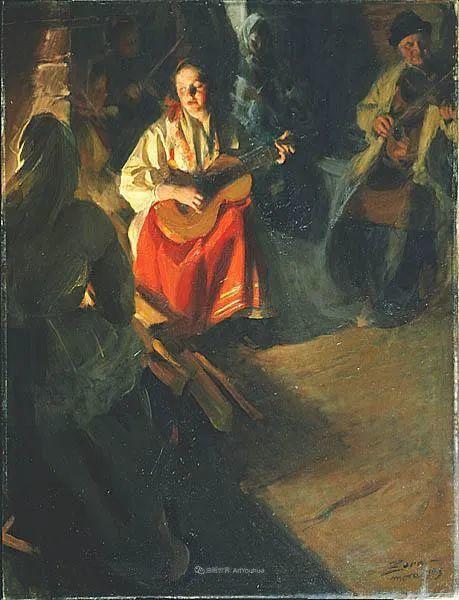 他为多位总统/国王画过肖像,瑞典画家安德斯·佐恩插图27