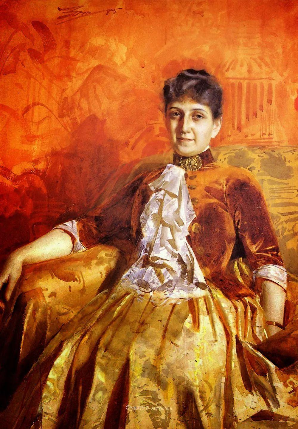 他为多位总统/国王画过肖像,瑞典画家安德斯·佐恩插图30