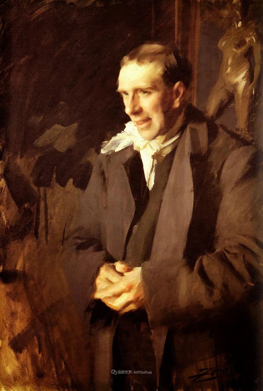 他为多位总统/国王画过肖像,瑞典画家安德斯·佐恩插图31