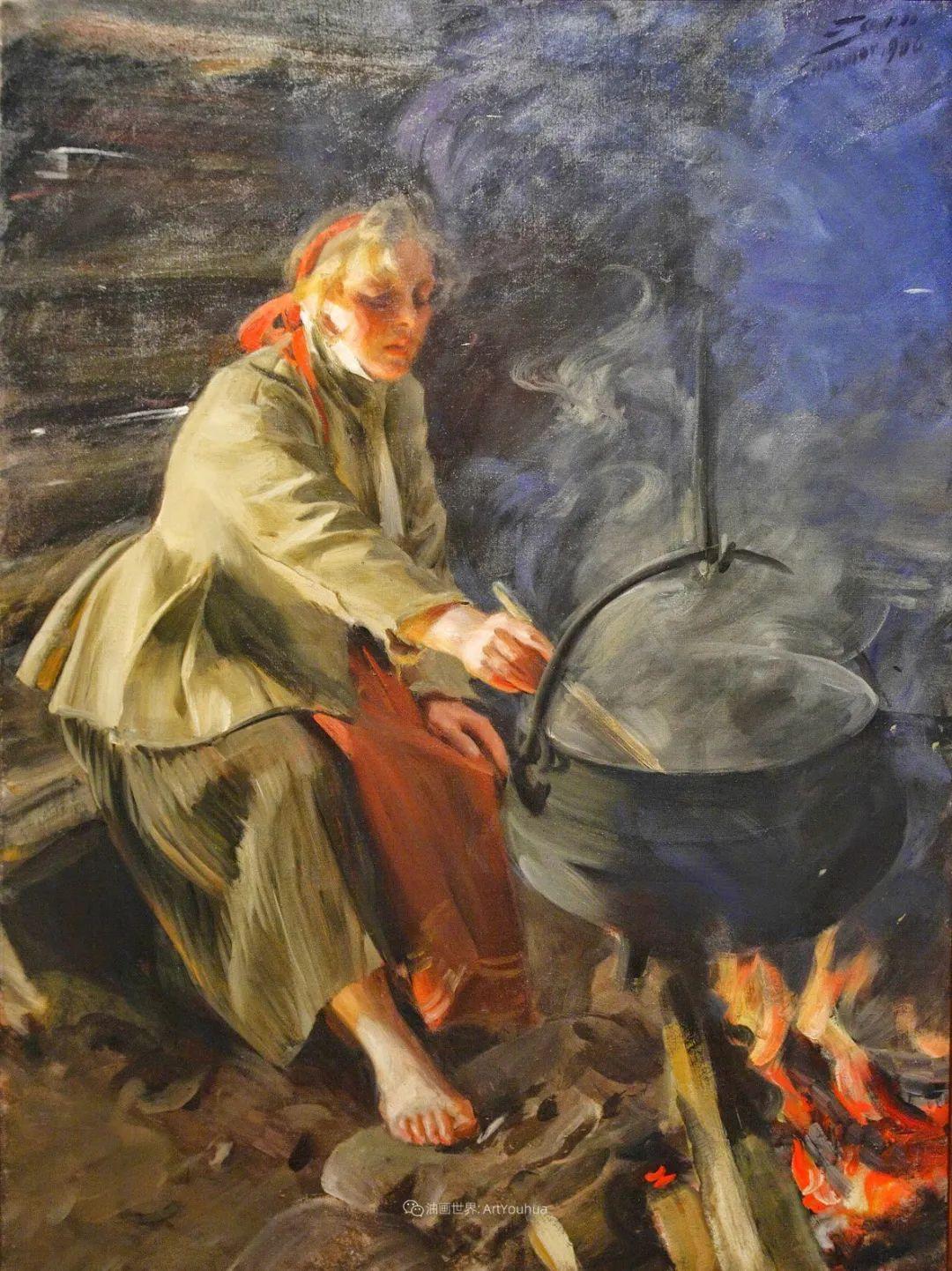 他为多位总统/国王画过肖像,瑞典画家安德斯·佐恩插图37