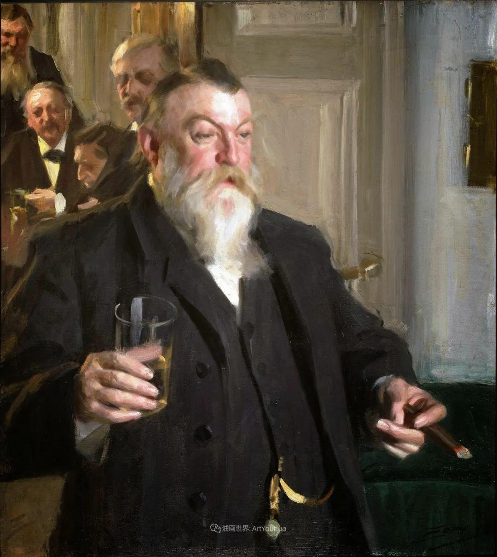 他为多位总统/国王画过肖像,瑞典画家安德斯·佐恩插图40
