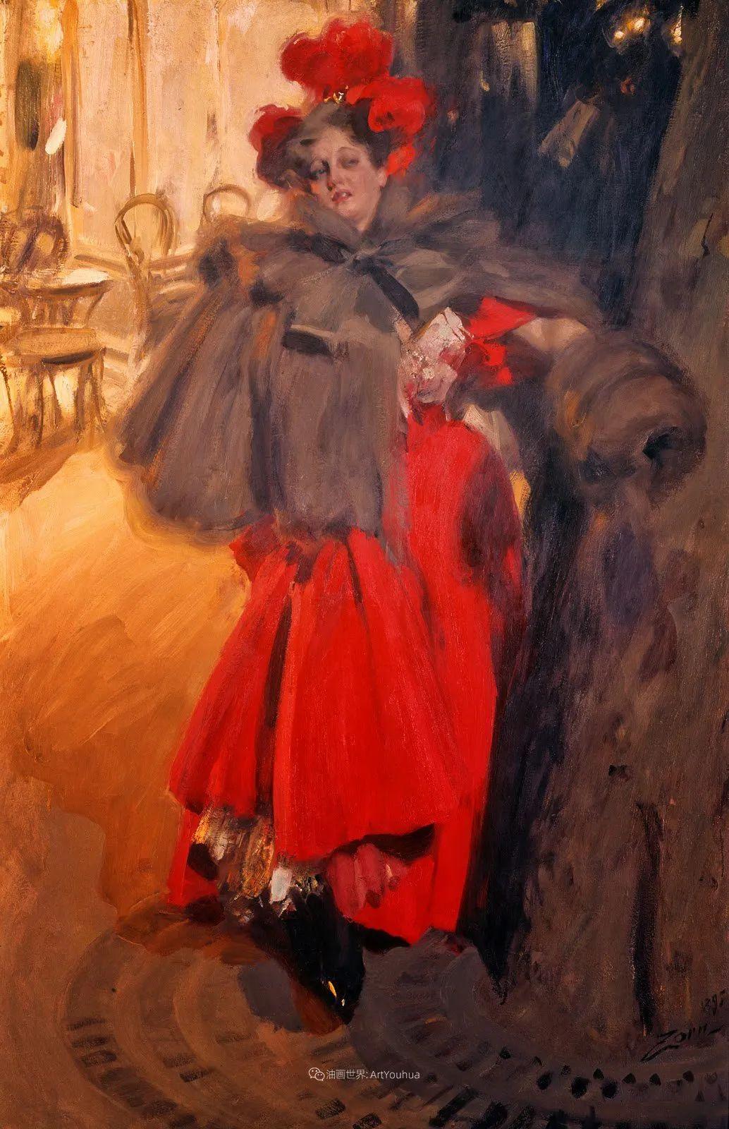 他为多位总统/国王画过肖像,瑞典画家安德斯·佐恩插图41