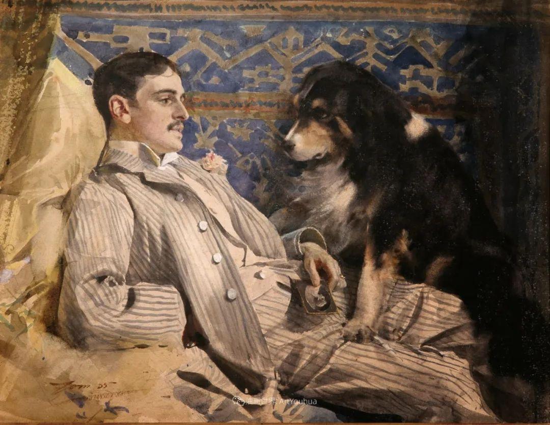 他为多位总统/国王画过肖像,瑞典画家安德斯·佐恩插图46
