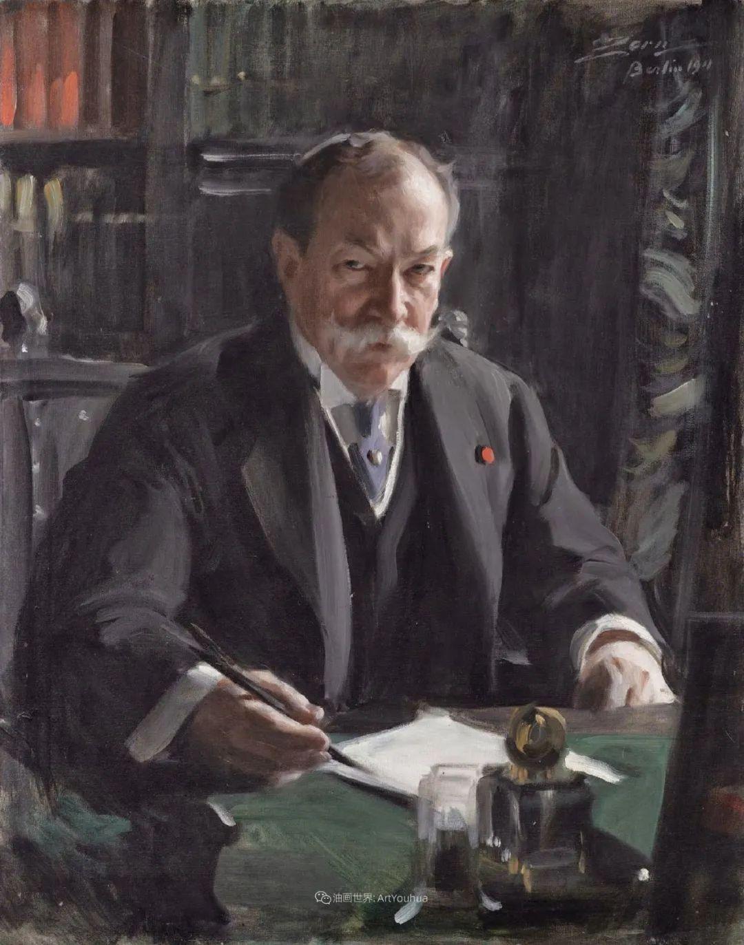 他为多位总统/国王画过肖像,瑞典画家安德斯·佐恩插图48