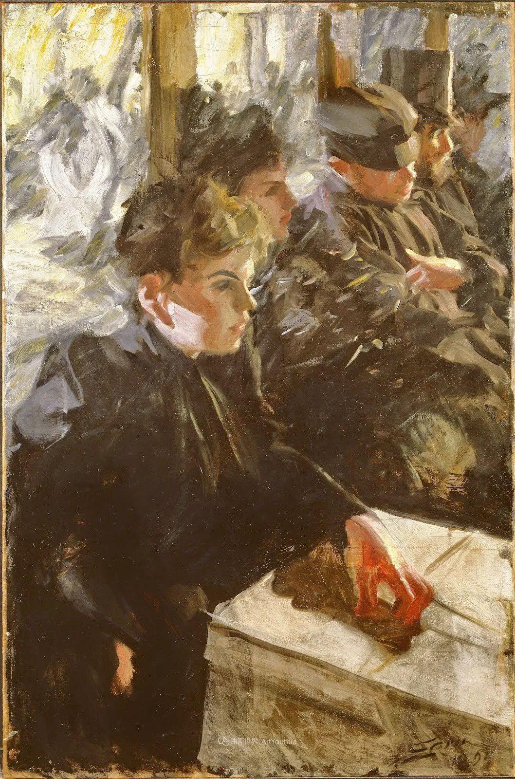 他为多位总统/国王画过肖像,瑞典画家安德斯·佐恩插图52